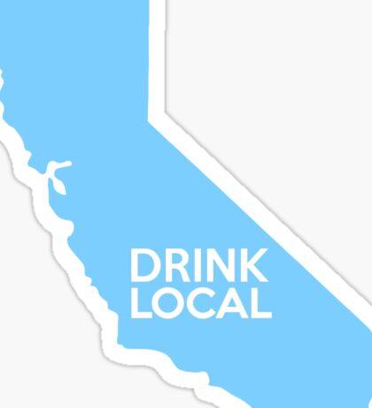 California Drink Local CA Blue Sticker