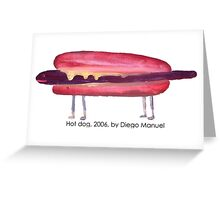 Hot dog by Diego Manuel Greeting Card