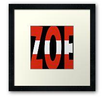 Zoe - Loin d'ici - Eurovision 2016 - Austria Framed Print