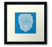 Blue Lion Framed Print