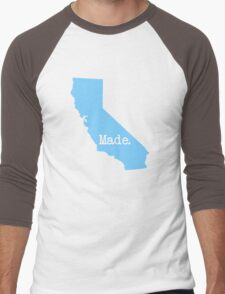 California Made CA Blue Men's Baseball ¾ T-Shirt