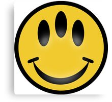 Evolution Inspired Smiley Emoticon  Canvas Print