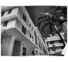 Miami - Deco District 008 BW Poster