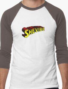 SheVibe Superman Style Logo Men's Baseball ¾ T-Shirt