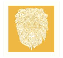 Yellow Lion Art Print