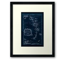 American Revolutionary War Era Maps 1750-1786 085 A map of the Caribbee Islands  shewing which belong to England France Spain Dutch & Danes collected from the Inverted Framed Print
