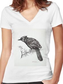 jay Women's Fitted V-Neck T-Shirt