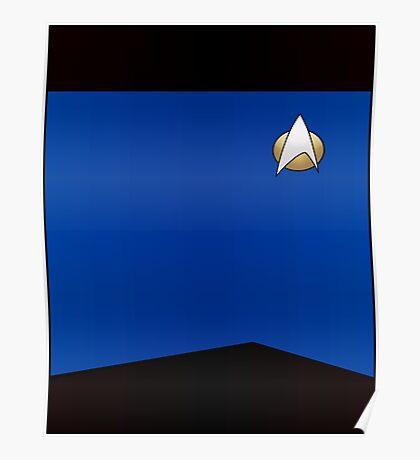 Star Trek TNG Uniform (Blue) Poster