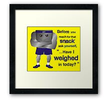 Weight Scale Fitness Trainer (M) Framed Print