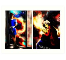 Twelfth Doctor and Clara Oswald Art Print