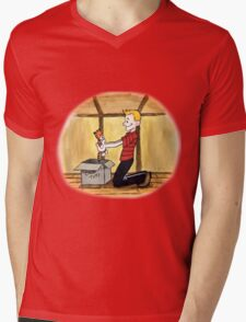 When Calvin will be tall Mens V-Neck T-Shirt