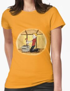 When Calvin will be tall Womens Fitted T-Shirt