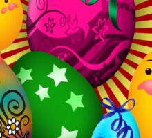 Hippy Easter Sticker