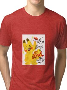 "Pokémon - Pikachu ""The very best like no one ever was"" cute design Tri-blend T-Shirt"