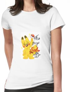 "Pokémon - Pikachu ""The very best like no one ever was"" cute design Womens Fitted T-Shirt"