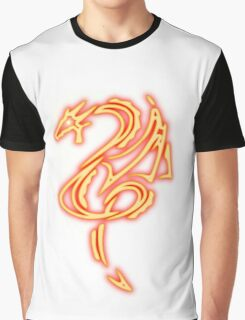 Dragon neon rouge 2 Graphic T-Shirt