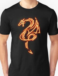 Dragon neon rouge 2 Unisex T-Shirt