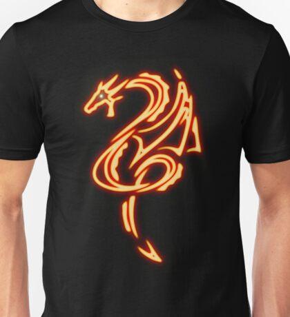 Dragon neon rouge 2 Unisex T-Shirt