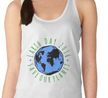 Save Our Planet Earth Day Women's Tank Top