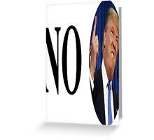 no trump Greeting Card
