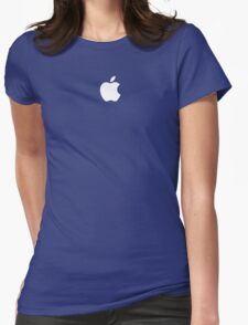 Apple logo - Blue Version Womens Fitted T-Shirt