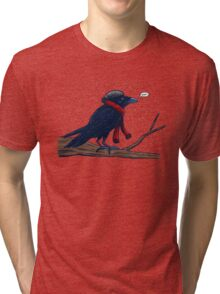 Annoyed IL Birds: The Crow Tri-blend T-Shirt