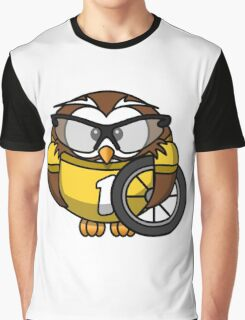 Cyclist Owl Graphic T-Shirt