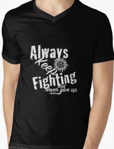 Always Keep Fighting Mens V-Neck T-Shirt