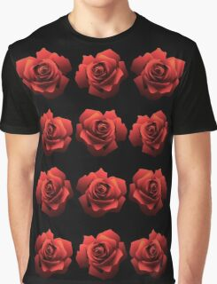 A Dozen Red Roses Graphic T-Shirt