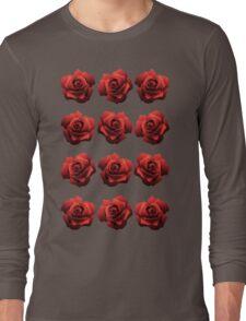 A Dozen Red Roses Long Sleeve T-Shirt