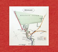 1928 RAILWAY MAP OF BELFAST DOCKS Tri-blend T-Shirt