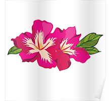 Beautiful flowers, nature pattern Poster
