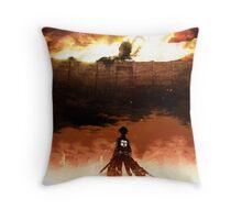 Eren Jaeger - Attack on Titans Throw Pillow