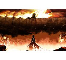 Eren Jaeger - Attack on Titans Photographic Print