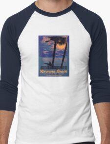 Hermosa Beach - California. Men's Baseball ¾ T-Shirt