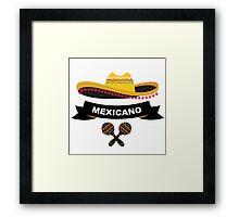 Crazy mexican sombrero Framed Print