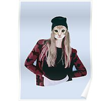 Hipster Ginger Kitten Poster