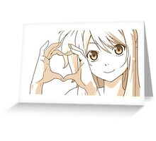 Lucy - Fairy tail Greeting Card