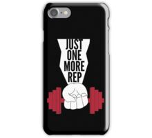 Just One More Rep Weightlifting iPhone Case/Skin