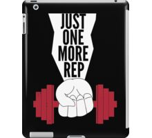 Just One More Rep Weightlifting iPad Case/Skin