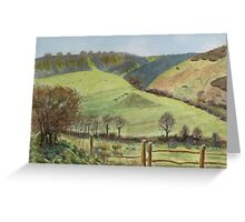 Winter sun, Devil's Dyke Greeting Card