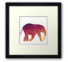 Geometric elephant pink colour Framed Print