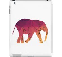 Geometric elephant pink colour iPad Case/Skin