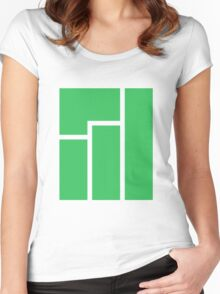 Manjaro logo Women's Fitted Scoop T-Shirt