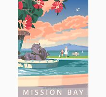 Mission Bay Fountain with Pohutukawa Unisex T-Shirt