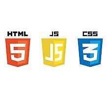 HTML JS CSS Photographic Print