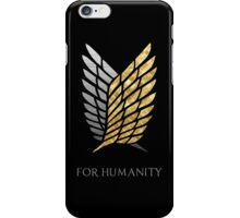 Survey Corps - Gold Silver iPhone Case/Skin