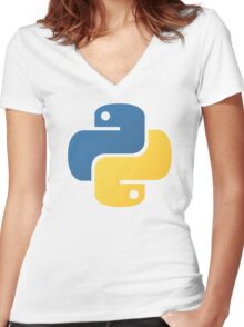python Women's Fitted V-Neck T-Shirt