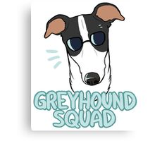 GREYHOUND SQUAD (white and black) Canvas Print