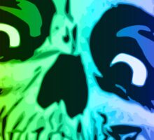 Rainbow Skull Sticker